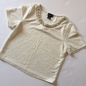 Rue21 Cute crop top with jeweled neckline